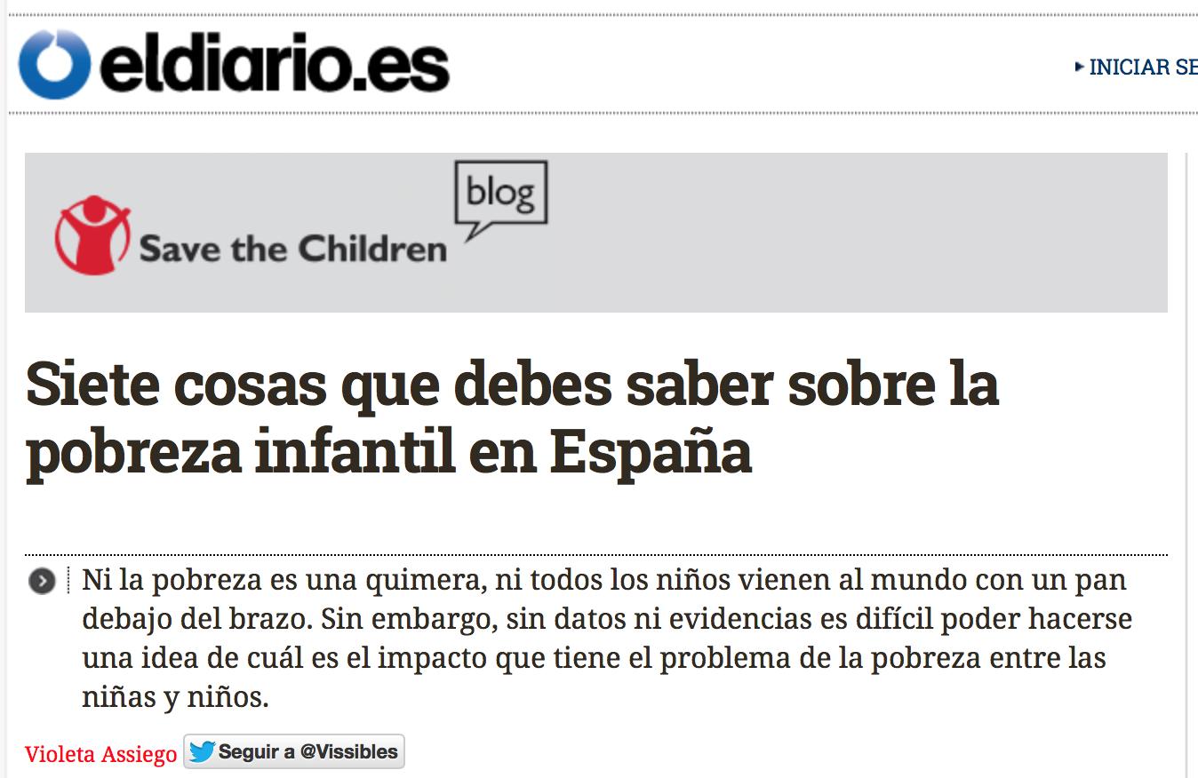 Prensa Siete cosas que debes saber sobre la pobreza infantil en España