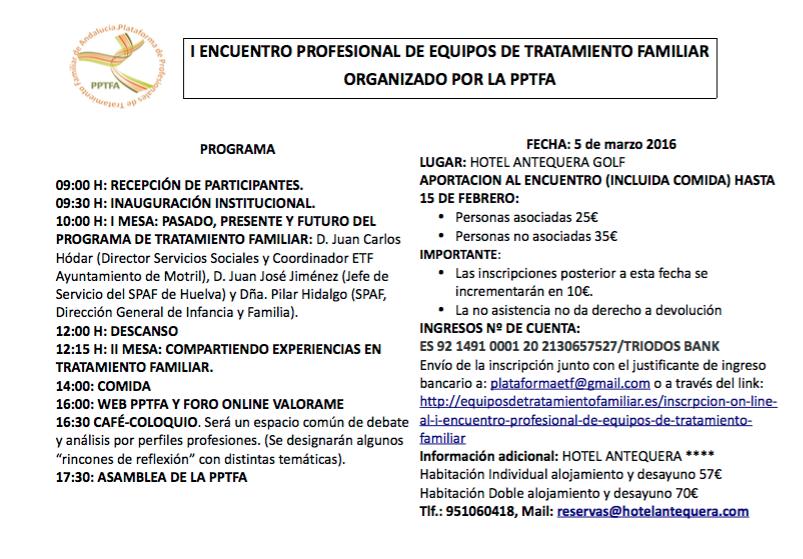 Programa definitivo I Encuentro Profesional de los ETFs