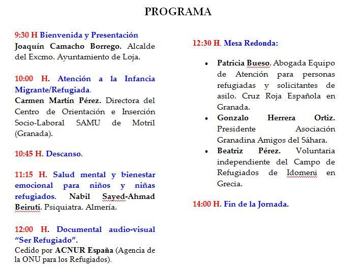 "Jornada ""Infancia Refugiada"""